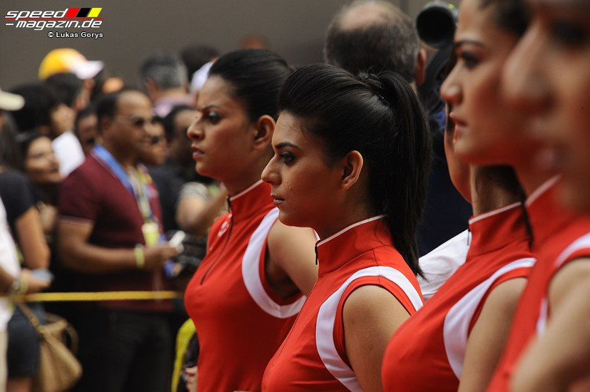 Grid Girls in New Delhi, Indien
