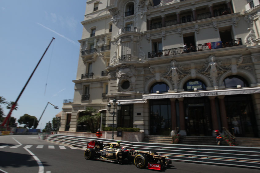 Lotus F1 Team im Training in Monte Carlo
