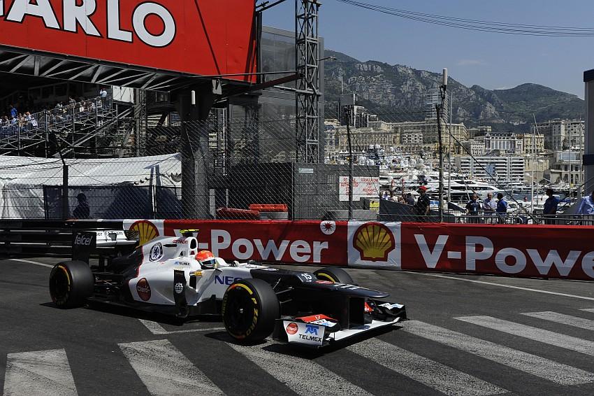 Sergio Perez hat im Monte Carlo Krankenhaus eine Dauerkarte