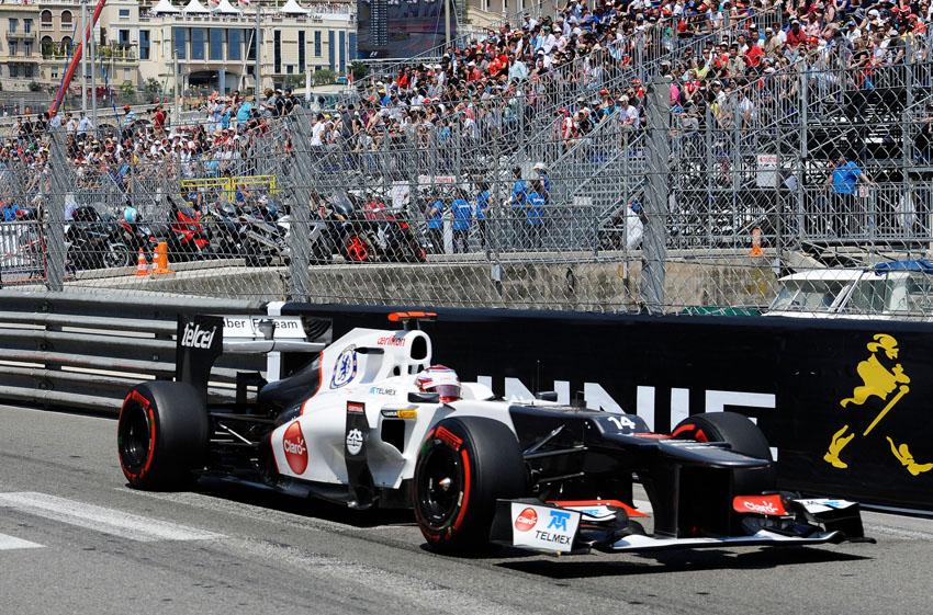 Kamui Kobayashi mit  Ausfall nach sechs Runden