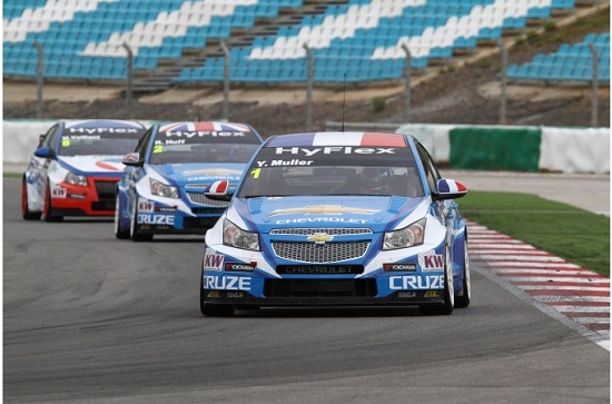 WTCC 2012 Portimao: Chevrolet dominiert das Warm-Up