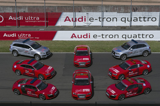 24h Le Mans 2012: Audi stellt Official Cars