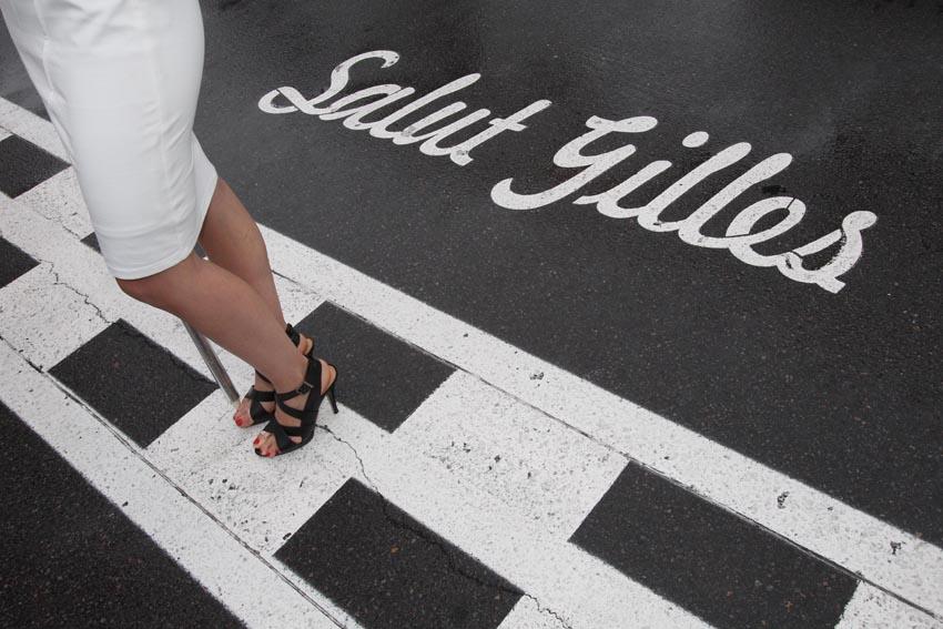 Noch heute ziert ein Schriftzug Salut Gilles die Piste für Villeneuve