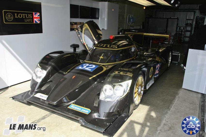 Beim Test vor dem Rennen setzte Lotus sein LMP2-Auto ein