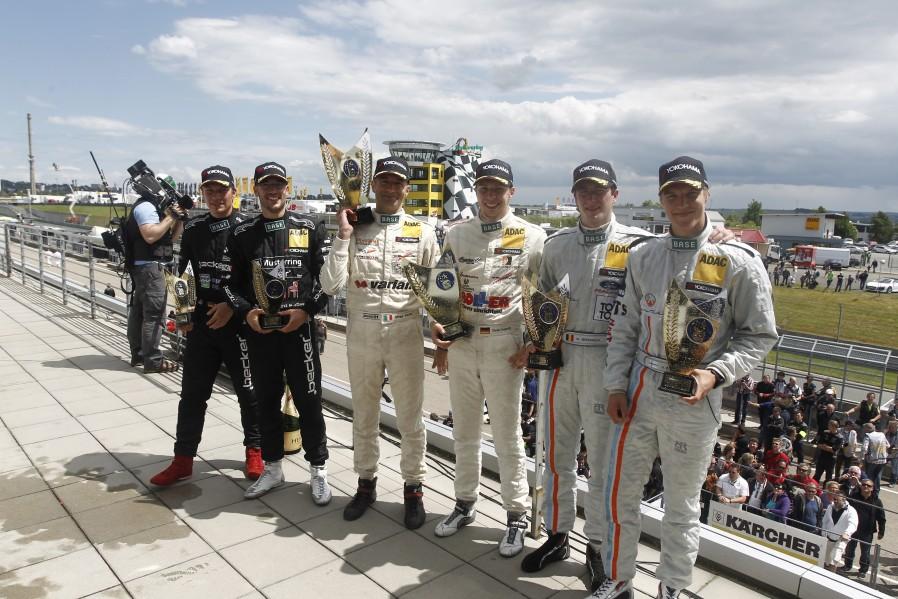 Das GT Masters Podium am Sachsenring