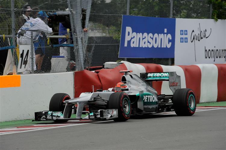 Schumacher auch in Kanada vorn dabei