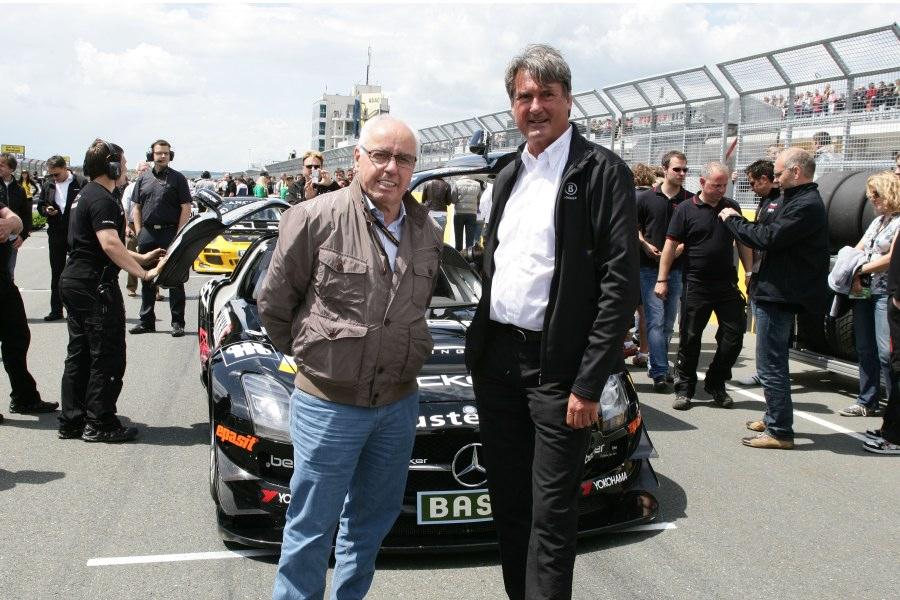 Hans-Werner Aufrecht mit ADAC Sportpräsident Hermann Tomczyk
