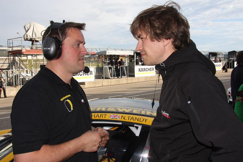 Teamchef Christian Schütz und Christian Engelhart