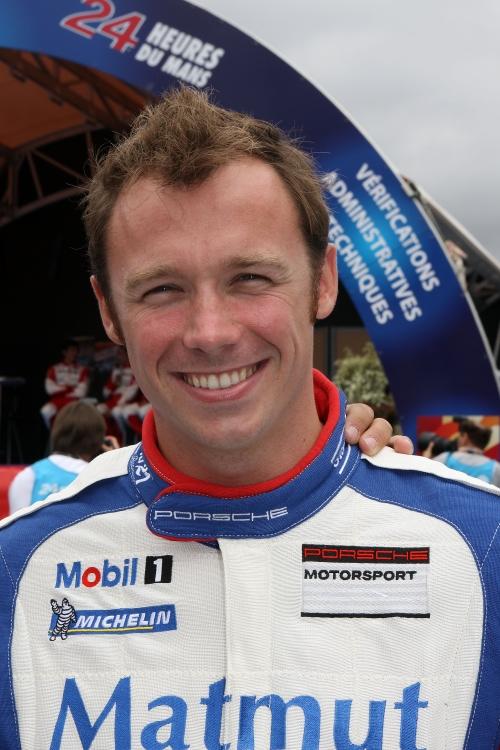 Porsche Werksfahrer Patrick Pilet (Flying Lizard Motorsports)