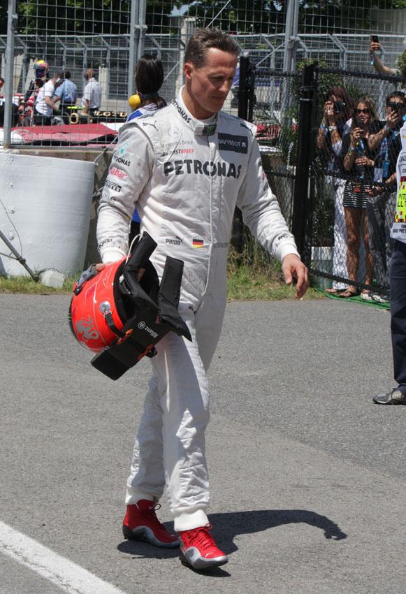 Schumi mit seinem fünften Ausfall im siebten Rennen