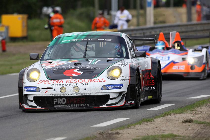 Der Porsche 911 GT3 RSR von Alfaisal, Curtis und Edwards