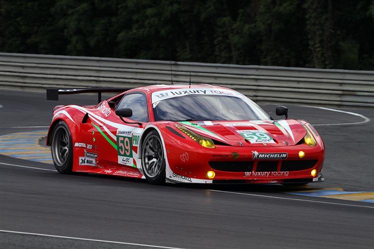 Ferrari in der LM GTR Pro-Klasse auf Pole