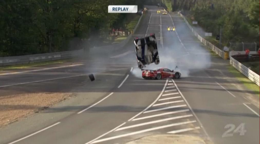 Der Crash zwischen Toyota #8 und Ferrari #81