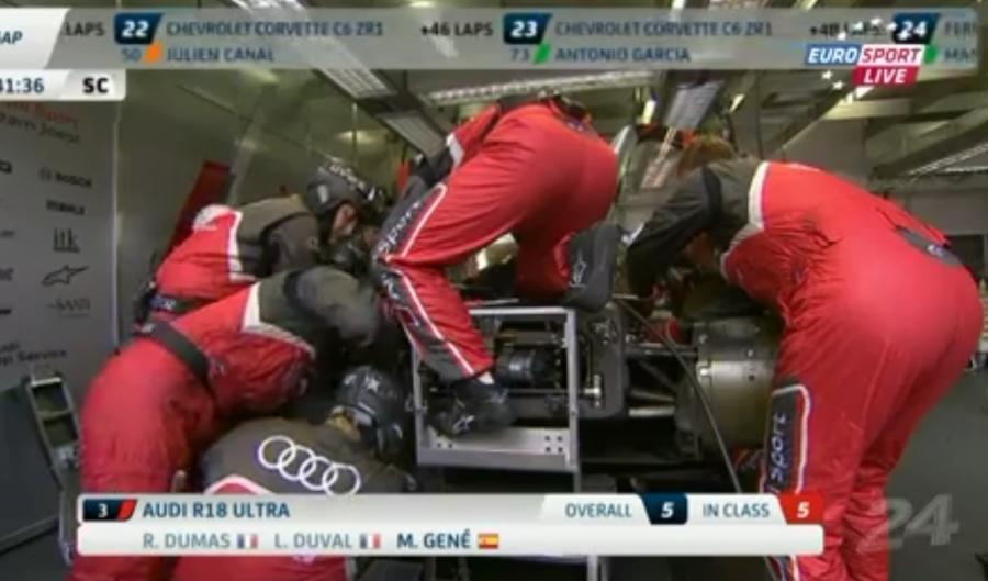 Audi Nr2 ist schon wieder auf der Strecke