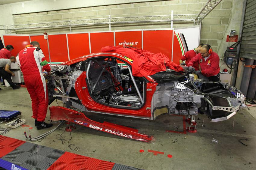 Noch im freien Training hatte Fisichella das Auto bei einem Abflug zerst