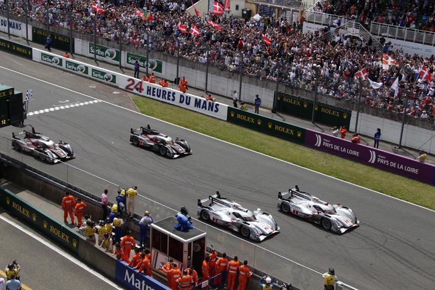 Ziel der 24h Le Mans