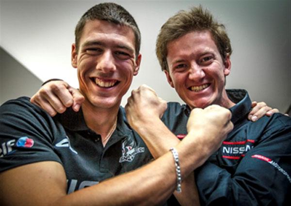 Jordan Tresson und Lucas Ordonez beim 24h Le Mans Rennen