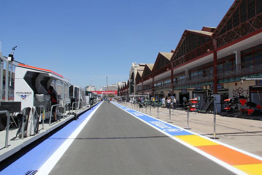 Durchschnittstempo von Valencia liegt mit rund 200km/h relativ hoch