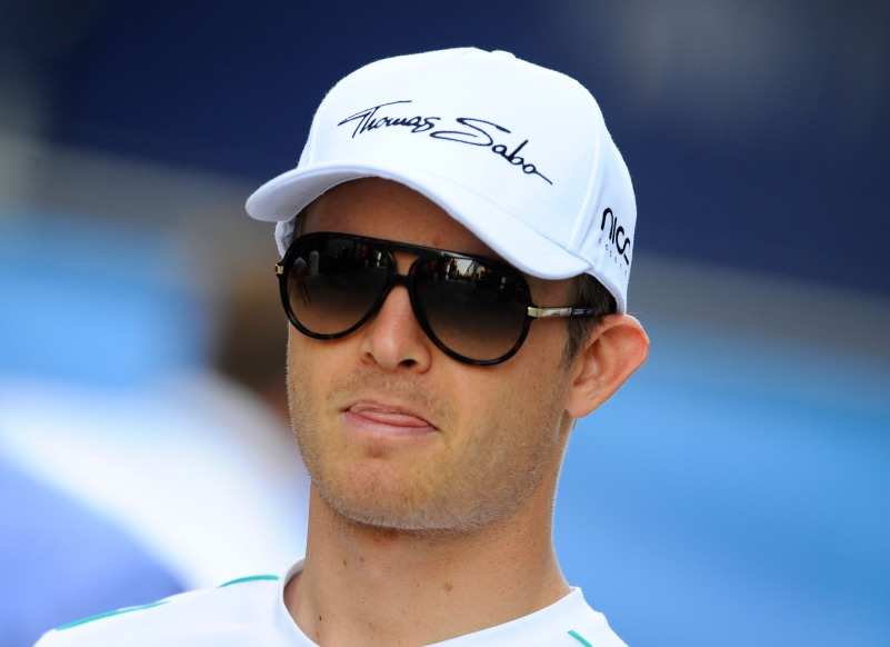 Nico Rosberg auf P2 am ende des 2. Quali in Valencia