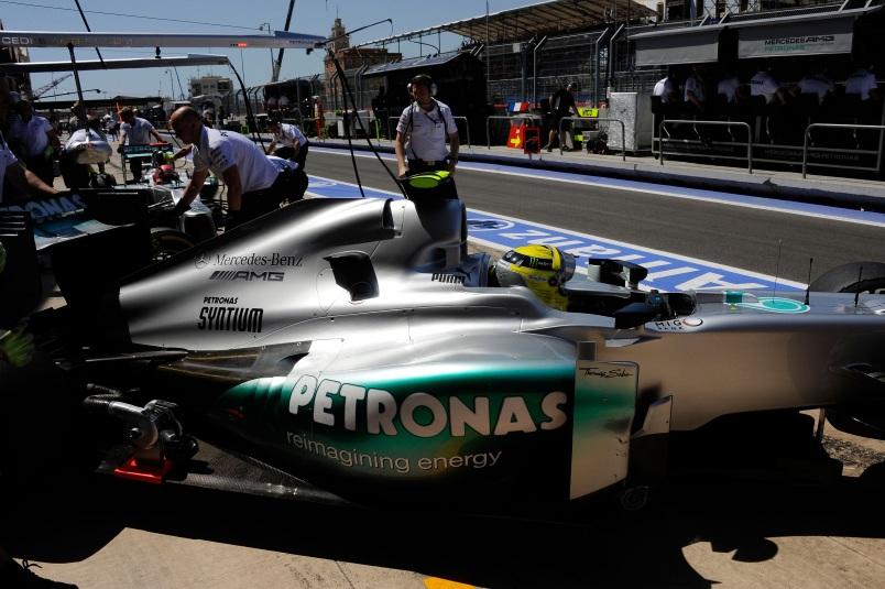 Rosberg fählten weniger als 0,070sek um ins Q3 zu kommen