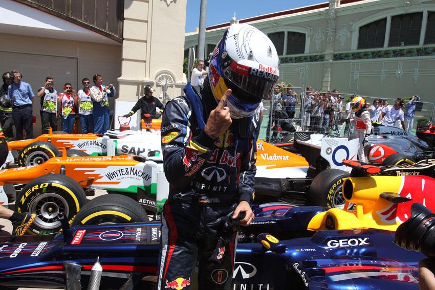Vettel startet das Rennen in Valencia von der Pole
