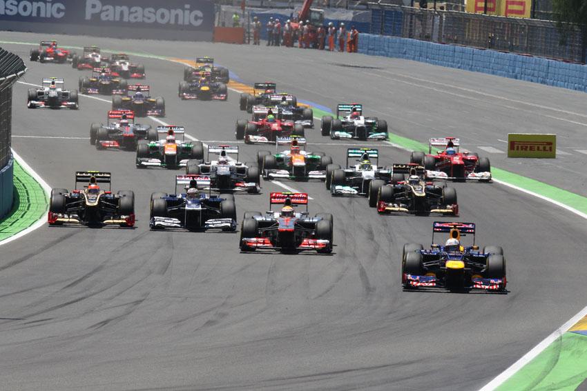 Start des 8. Formel 1 Rennen in Valencia