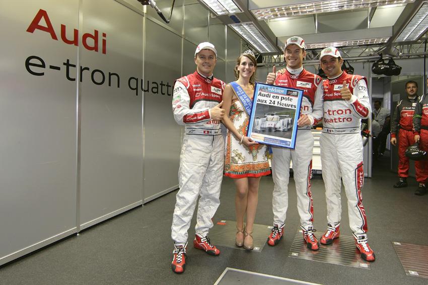 Fässler, Lotterer und Tréluyer mit Miss 24h Le Mans