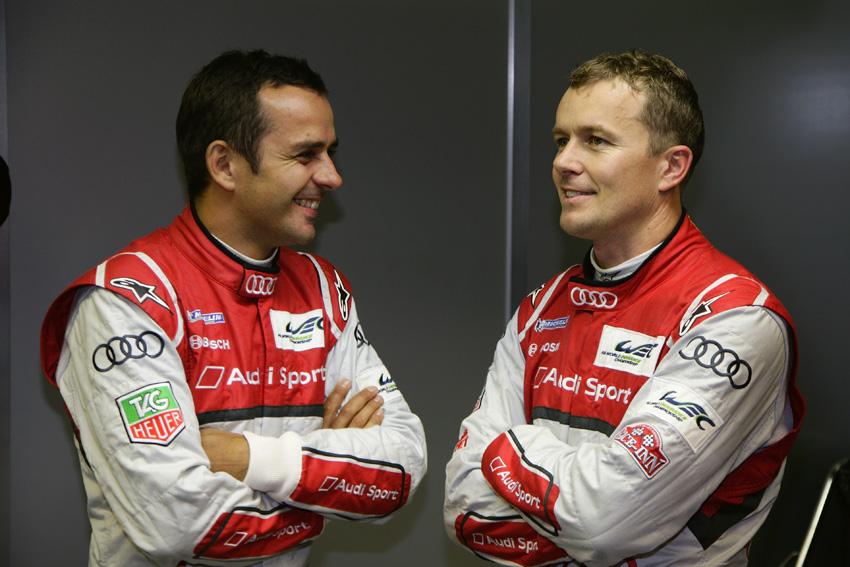 Benoît Tréluyer und Marcel Fässler beim 24h Rennen Le Mans