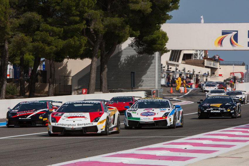 Der Lamborghini Blancpain Super Trofeo Start