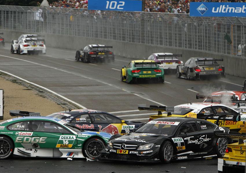Start des DTM Rennen am Norisring