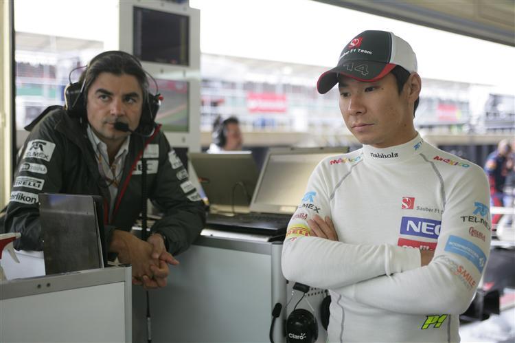 Kobayashi und ein Sauber-Ingenieur