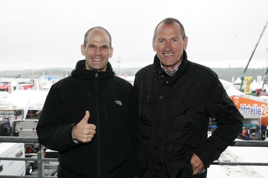 Tim Bergmeister kam zusammen mit Vater Willi