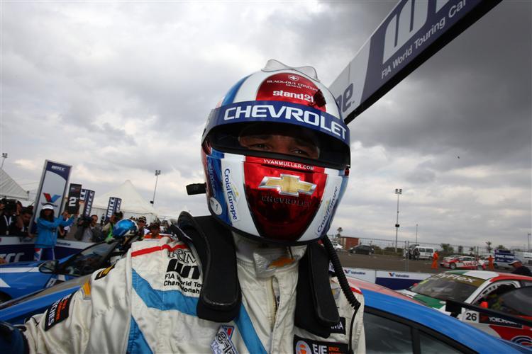 Auch in der WTCC-Pause kam der Helm zum Einsatz
