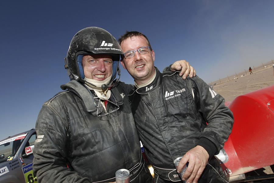 Kahle und Schünemann sind in der Gesamtwertung auf P7