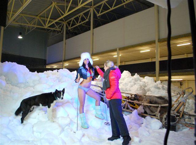Schneehalle sorgt selbst im Hochsommer für Wintergefühle