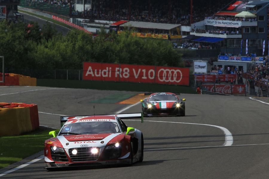 Der Audi R8 LMS ultra Nr.16 auf P2!