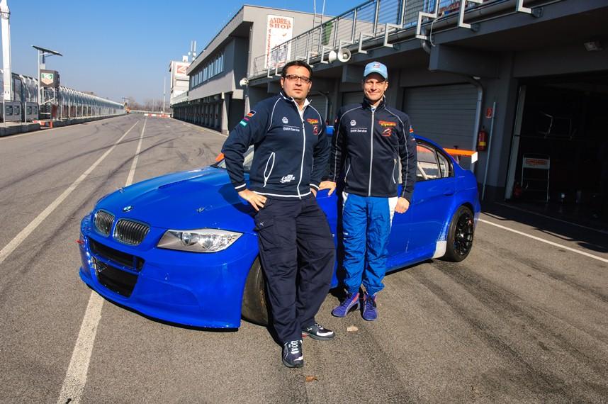 Team-Manager Dominik Greiner und der neue Wiechers-Pilot Fredy Barth