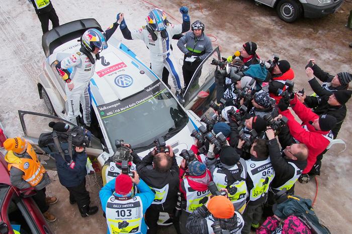 Jari-Matti Latvala gewinnt im Volkswagen Polo R WRC Nr.2 die Rallye Schweden