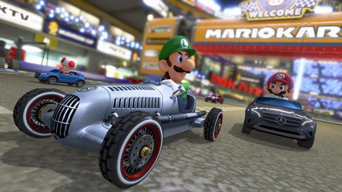Mercedes-Benz im neuen Nintendo Wii U Rennspiel Mario Kart 8