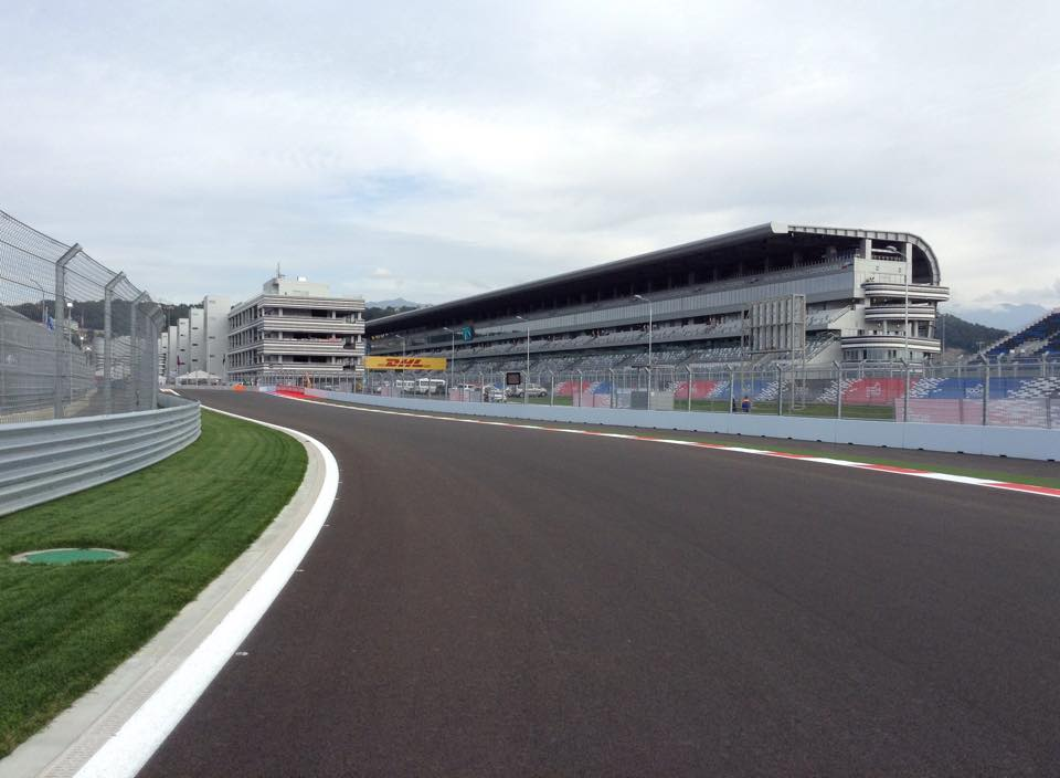Völlig neu für die Formel-1 Piloten: Sochi Autodrom