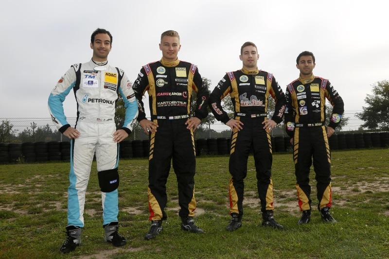 Team Motopark / Lotus mit Nabil Jeffri, Indy Dontje, Markus Pommer und Andrés Méndez (vlnr)