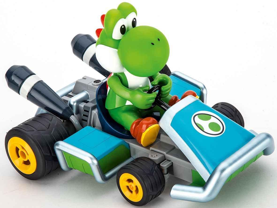 Der grüne Dinosaurier Yoshi ist genauso schnell einsatzbereit wie sein Freund Mario...
