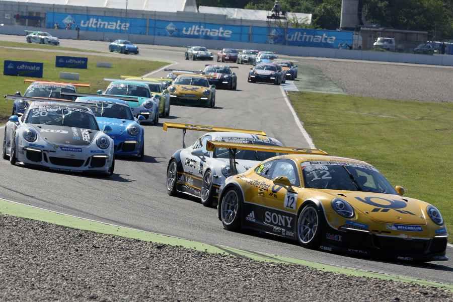 Volles Starterfeld im Porsche Carrera Cup