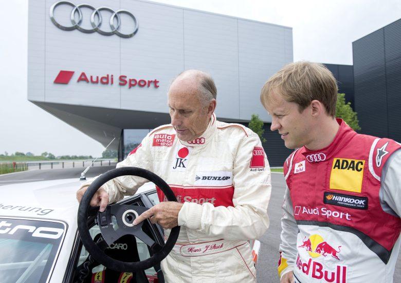 Demo-Runden von Hans-Joachim Stuck im Siegerwagen von 1990