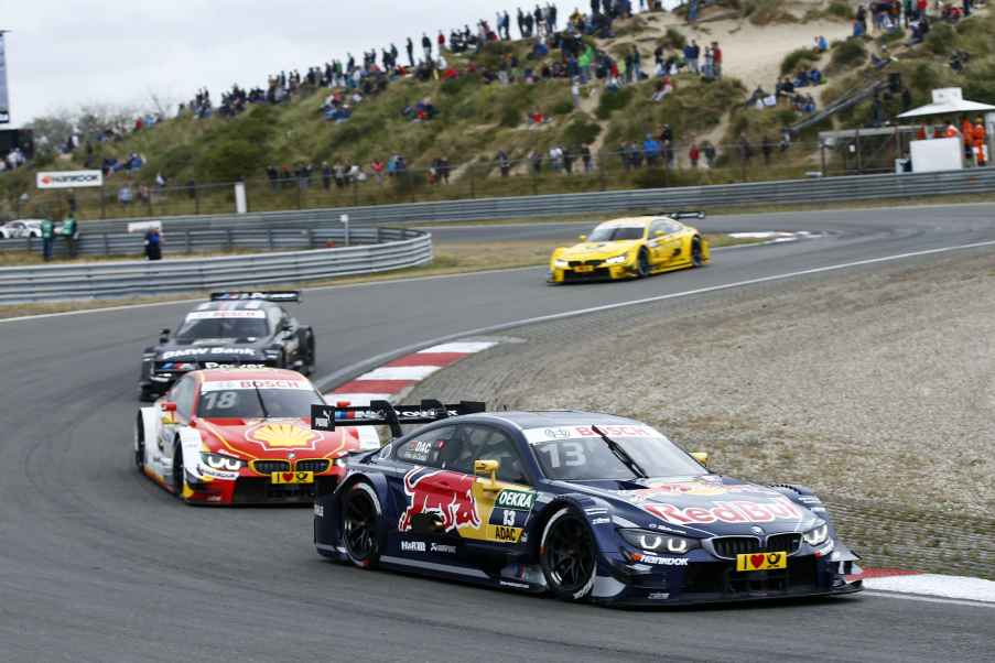 #13 António Félix da Costa, BMW M4 DTM, #18 Augusto Farfus, BMW M4 DTM, #7 Bruno Spengler, BMW M4
