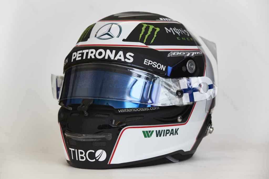 TIBCO Branding beim Bahrain Grand Prix an diesem Wochenende auf den Fahrer-Helmen