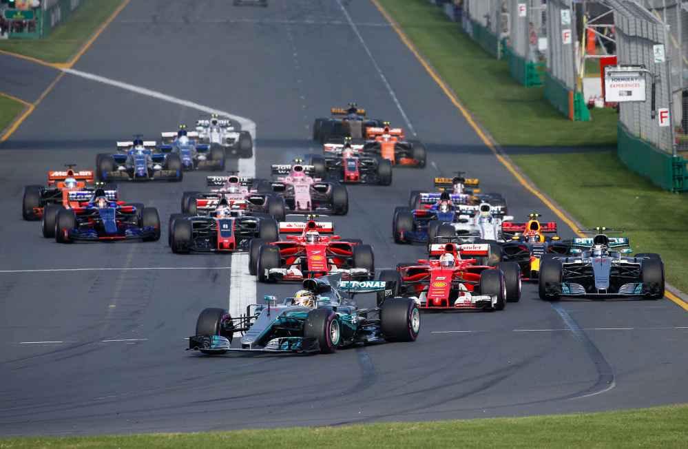 Rennstart GP Australien 2017