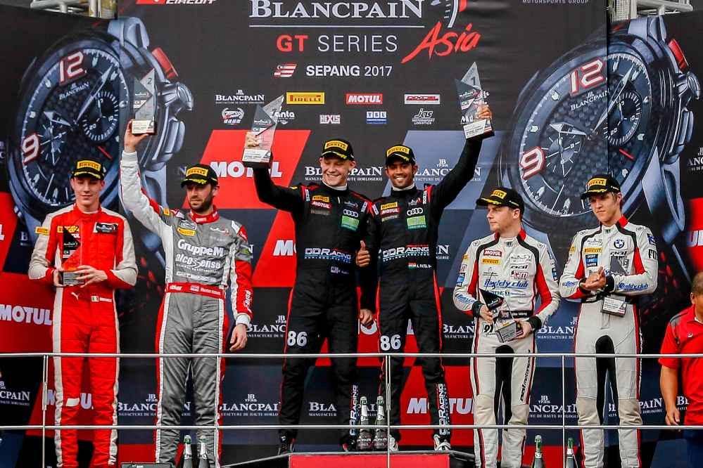 Historischer erster Sieg für Audi-Kunde in neuer Blancpain GT Series Asia