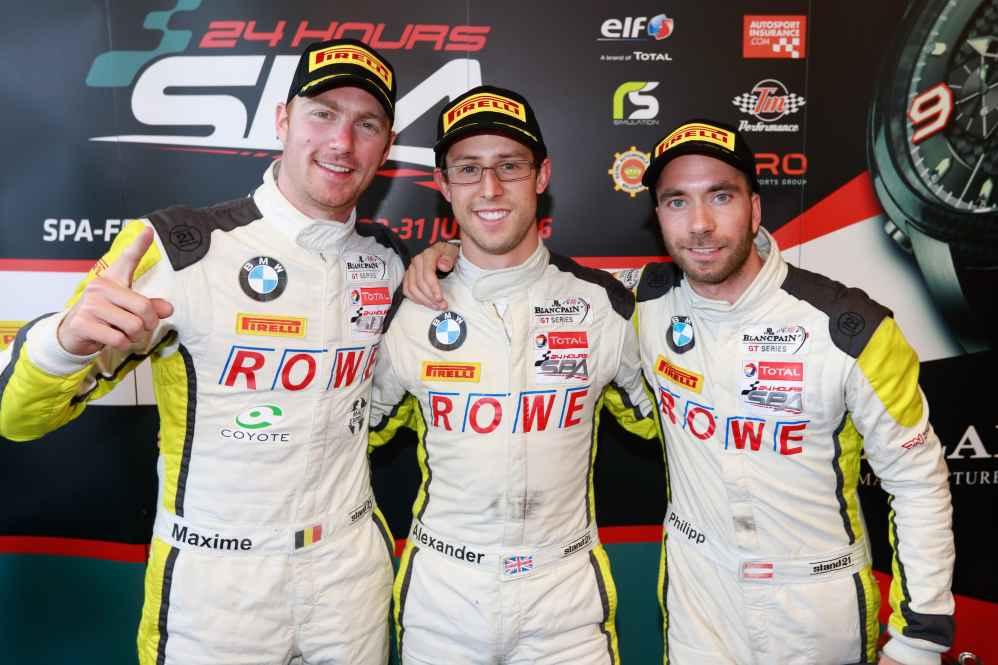 Maxime Martin, Alexander Sims und Philipp Eng