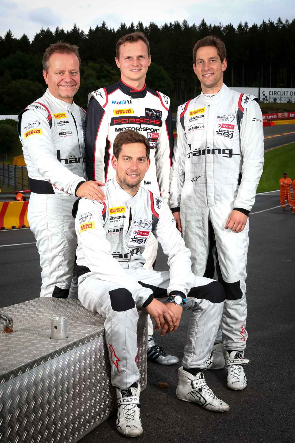 Herberth Motorsport: Jürgen Häring, Marc Lieb, Alfred und Robert Renauer